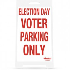"Election Day Voter Parking Only Sign - 14"" x 22"""