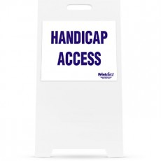 Handicap Access Sign and Stand