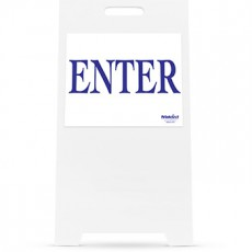 Enter Sign and Stand