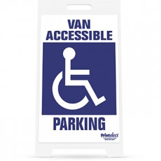 Van Accessible Parking with Access Symbol Sign