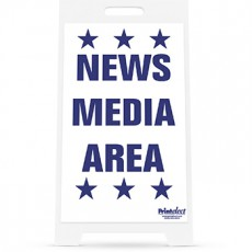 News Media Area Sign