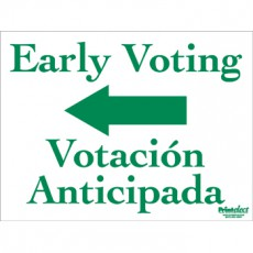 Bilingual Early Voting Sign (with Arrow) (English/Spanish)