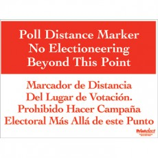 Bilingual Poll Distance Marker Sign (English/Spanish)