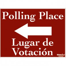 Bilingual Polling Place Sign (with Arrow) (English/Spanish)