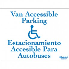 Bilingual Van Accessible Parking Sign (with Access Symbol) (English/Spanish)