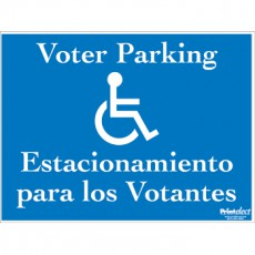 Bilingual Voter Parking Sign (with Access Symbol) (English/Spanish)