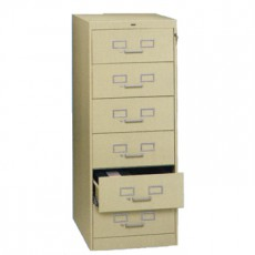6 Drawer Multi-Media File Cabinet