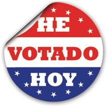 Spanish I Voted Today Sticker