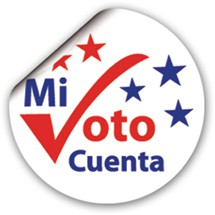 Spanish My Vote Counts Sticker