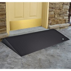 Rubber Entrance Ramp with Beveled Sides