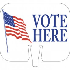 Vote Here Cone Cap Sign