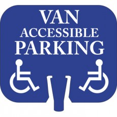 Van Accessible Parking Cone Cap Sign