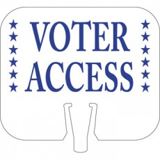 Voter Access Cone Cap Sign
