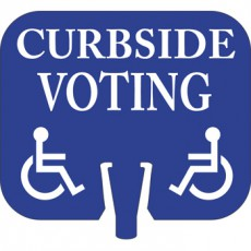Curbside Voting Cone Cap Sign