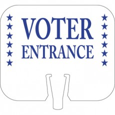 Voter Entrance Cone Cap Sign