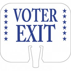 Voter Exit Cone Cap Sign