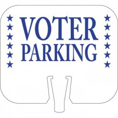 Voter Parking Cone Cap Sign
