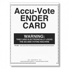AccuVote-OS Ender Ballots
