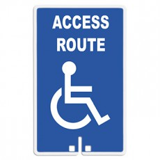 Access Route with Handicap Symbol Sign