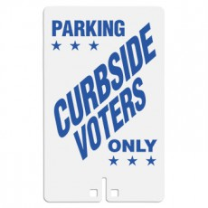 Parking Curbside Voters Only Sign