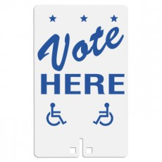 Vote Here with Handicap Access Symbol Sign