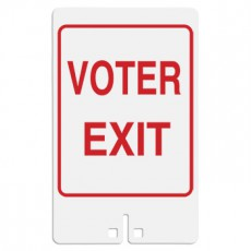 Voter Exit Sign