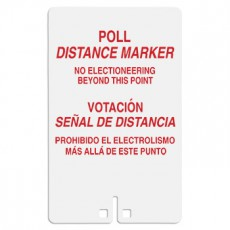 Poll Distance Marker Bilingual Sign