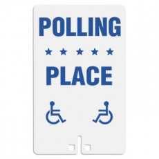 Polling Place with Handicap Access Symbol Sign