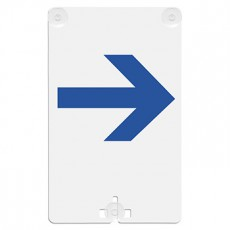 Arrow - Right Suction Cup Sign