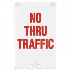 No Thru Traffic Suction Cup Sign