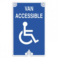 Van Accessible (with Handicap Access Symbol) Suction Cup Sign