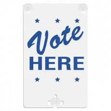 Vote Here Suction Cup Sign