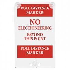 Poll Distance Marker Suction Cup Sign