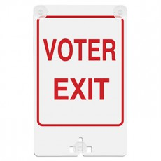 Voter Exit Suction Cup Sign