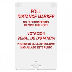 Poll Distance Marker (Bilingual) Suction Cup Sign