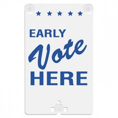 Early Vote Here Suction Cup Sign
