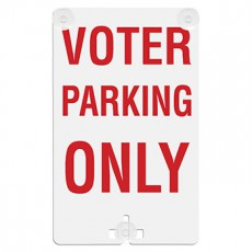 Voter Parking Only Suction Cup Sign