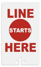 Line Starts Here Sign for Voter's Choice Portable Sign System.